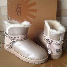 UGG Renn Swarovski Crystal Bling Sand Bomber  Sheepskin Boots US 7 Womens