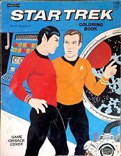 Star Trek Coloring Book Spock-Nimoy Kirk-Shatner 1975 C1856 TV series crew