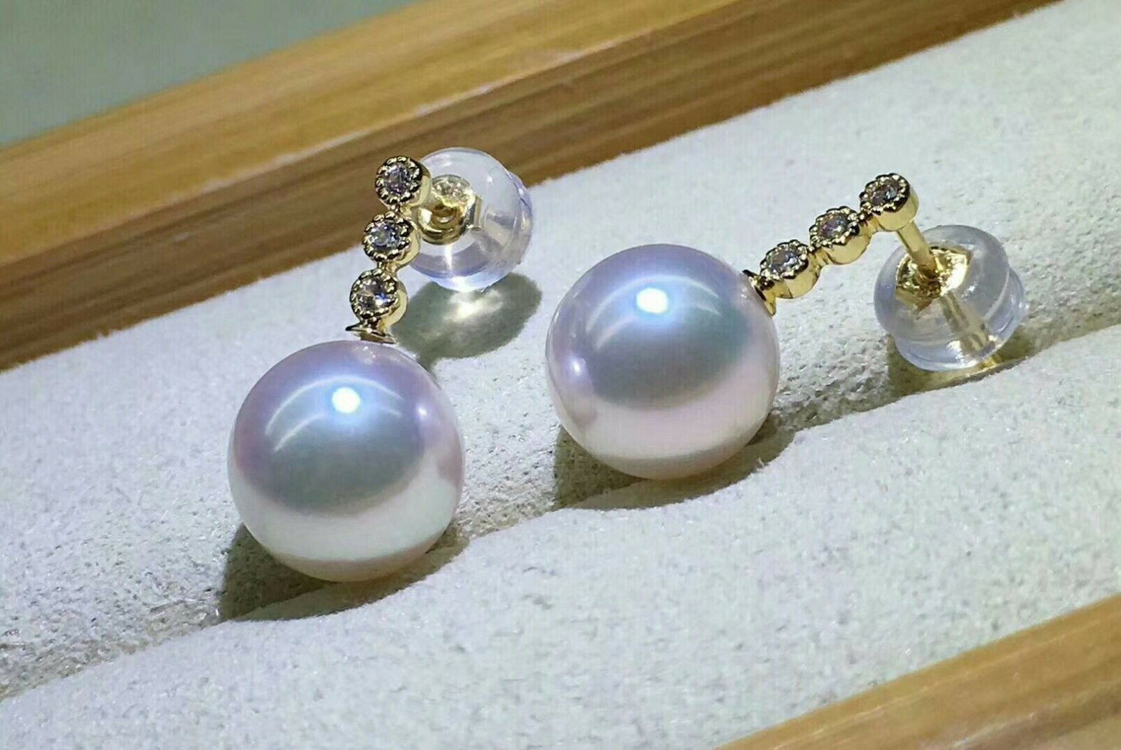 aa880e771c191 white sea south 10-11mm Gorgeous pearl round 18k earring ...