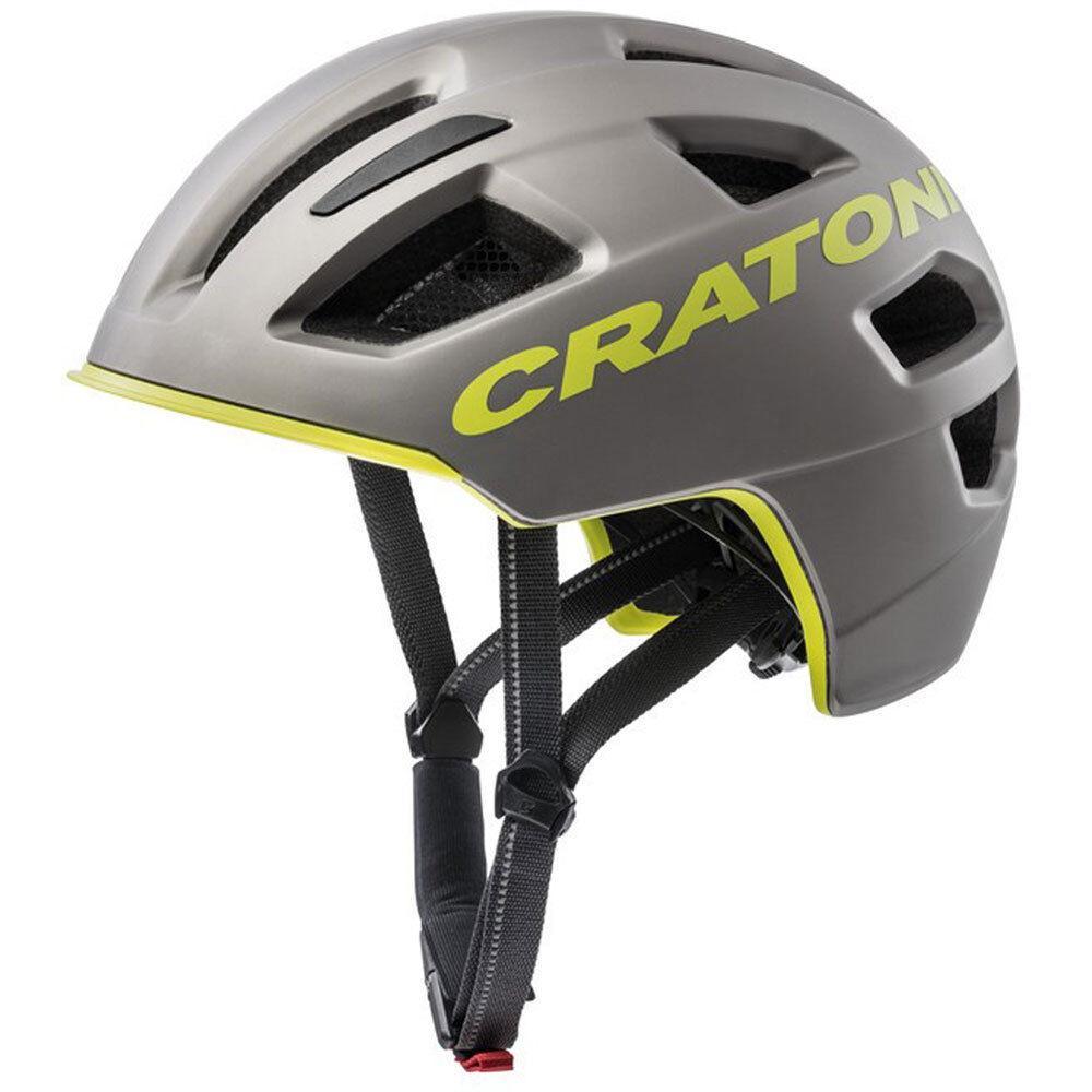 Cratoni bicicleta casco C-Pure City M L 58-61cm antracita Lime  Matt aprox. 310g bicicleta  venta al por mayor barato