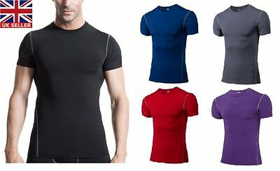 Activewear Tops Rapture Compression Herren T-shirt Unterlage Thermo Sport Häute Unter Gear Gym Activewear
