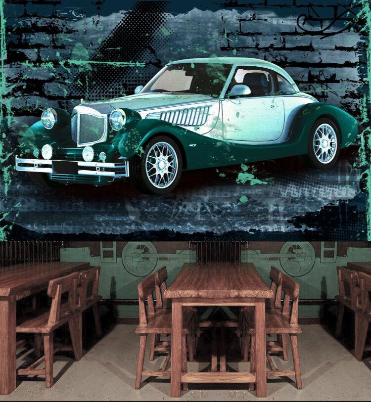 3D Blau car 7766 Wall Paper Print Wall Decal Deco Indoor Wall Murals