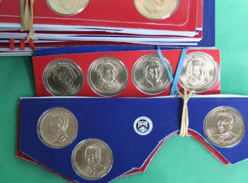 2007 thru 2016 Presidential Golden Dollar 78 P D UNC $1 Coin Lot Cut Mint Sets