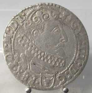 6-Groschen-1627-Krakau-Polen-Silber