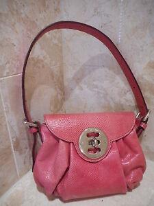 Mulberry Net A Porter Genuine Snakeskin Leather Pink Leigh Handbag ... aeffbf0d6a741