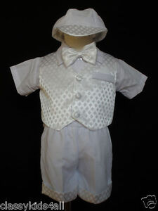 Baby Toddler Boy Christening Baptism Outfit Suit Size S M