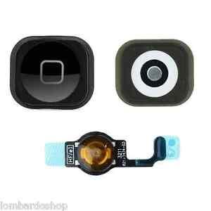 Touche-Home-Noir-avec-Membrane-Flat-Flex-pour-Apple-IPHONE-5-Noir-Complet