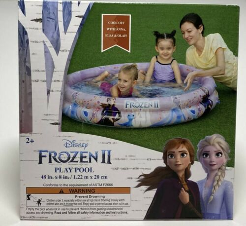 "Disney Frozen 2 Kiddie Pool Ring Elsa Anna Olaf Inflatable Kids Play 48""x8"" NEW"