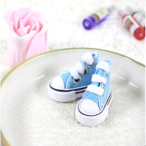 5cm Canvas Lace Up Sneakers Shoes For  /& Boy Dolls plfap PL