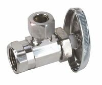 Durapro 750141 Angle Stop, 1/2 In. Ips X 3/8 In. Comp, Chrome, Lead Free