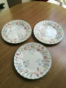 Churchill-scalloped-3-x-salad-dessert-plates-8-034-20cm-super-floral-pattern