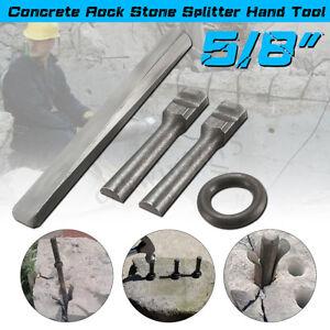 7-Set-5-8-034-Plug-Wedges-Feather-Shims-Concrete-Rock-Stone-Splitter-Hand-Tool-16mm