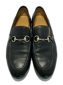 GUCCI-BLACK-LEATHER-039-JORDAAN-039-LOAFERS-37-5-1080