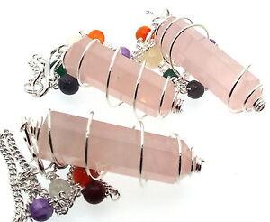 Cuarzo-Rosa-Chakra-TERMINADO-EN-PUNTO-Pendulo-Cristal-Piedra-Preciosa