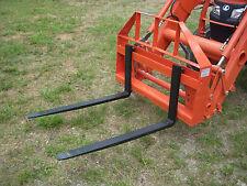 "Kubota Mahindra Kioti Compact Tractor 42"" Pallet Forks Attachment - Ship $149"