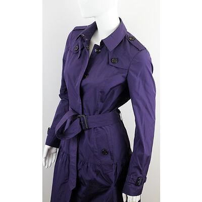 BNWT BURBERRY WOMEN'S DARK PURPLE TRENCH COAT SIZE US6 UK8 IT40