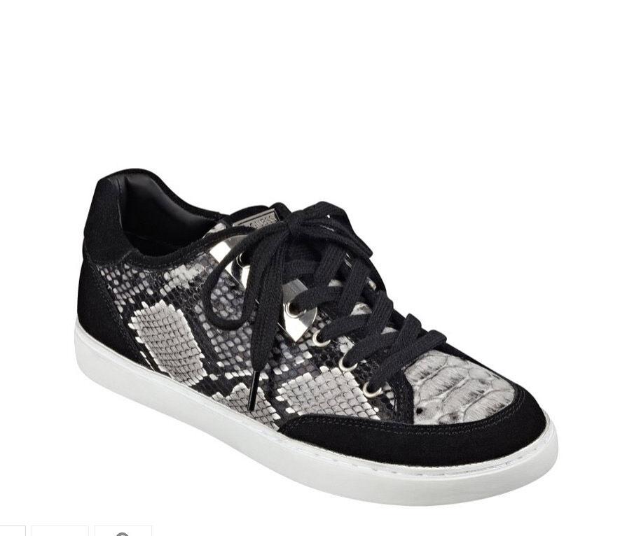 NIB GUESS Raamiah Fashion Sneakers Python print  noir blanc  US 8, 8.5, EU 38, 39