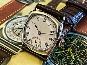 Stunning-Silver-Omega-General-Watch-Company-WW1-Trench-Watch