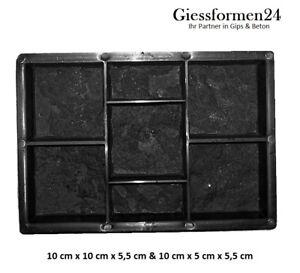 Schalungsform-Giesform-fur-7-Beton-Pflastersteine-034-Tschechischer-Stein-034-NEUHEIT