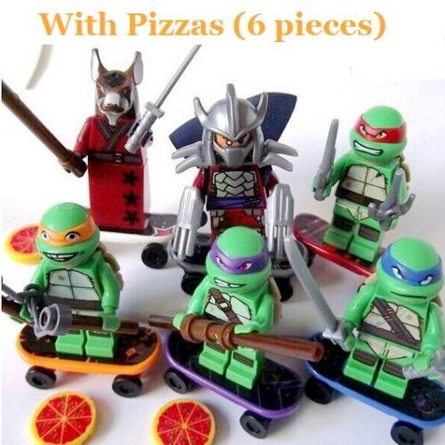 Baukästen Kinder Figur Ninja Mutant Turtles Teenage DIY Spielzeug Geschenke 6PCS