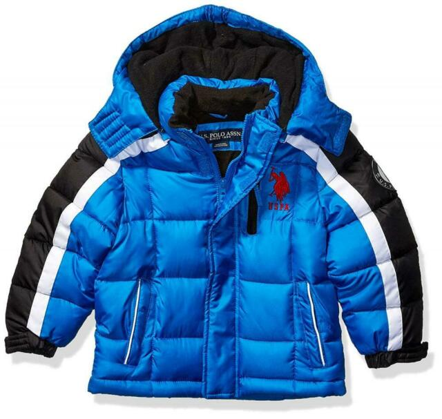 U.S. Polo Assn. Big Boys Blue Bubble Jacket Size 8 10/12 ...