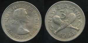 New-Zealand-1963-Threepence-3d-Elizabeth-II-Uncirculated