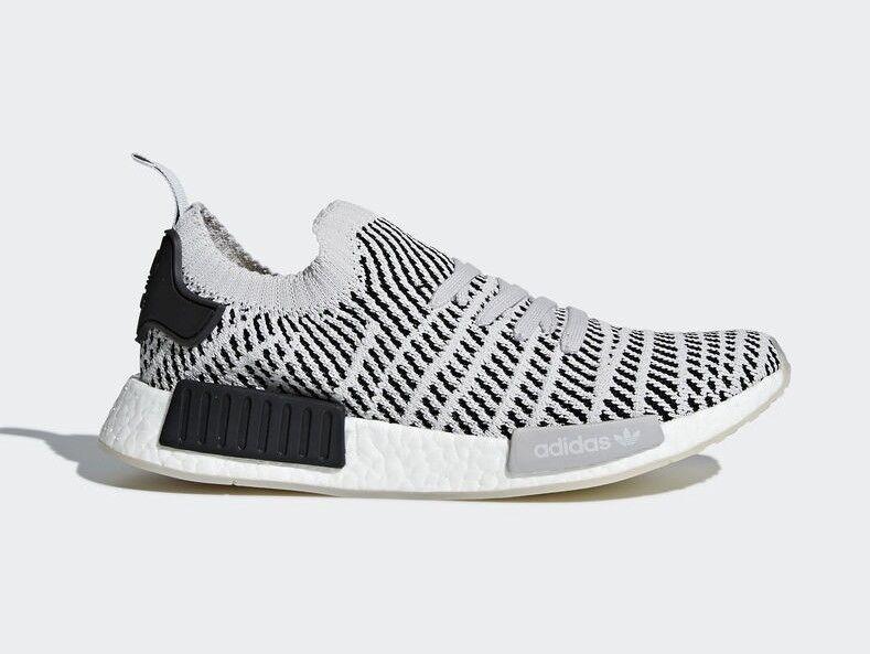 Adidas Men's NMD_R1 STLT PRIMEKNIT Shoes Grey/Black CQ2387 c