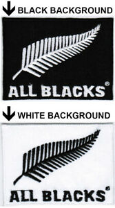 New Zealand National Rugby Union Team All Blacks #WTB Badge Iron On Patch