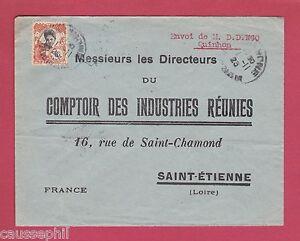 Es Quinhon Indochine Lettre De 1925 Pour St Etienne France Ebay