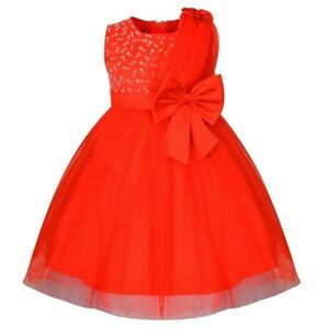 043d8ab10 Gorgeous Girls Red Princess Style Sash Dress Flower Girl Party Dress ...