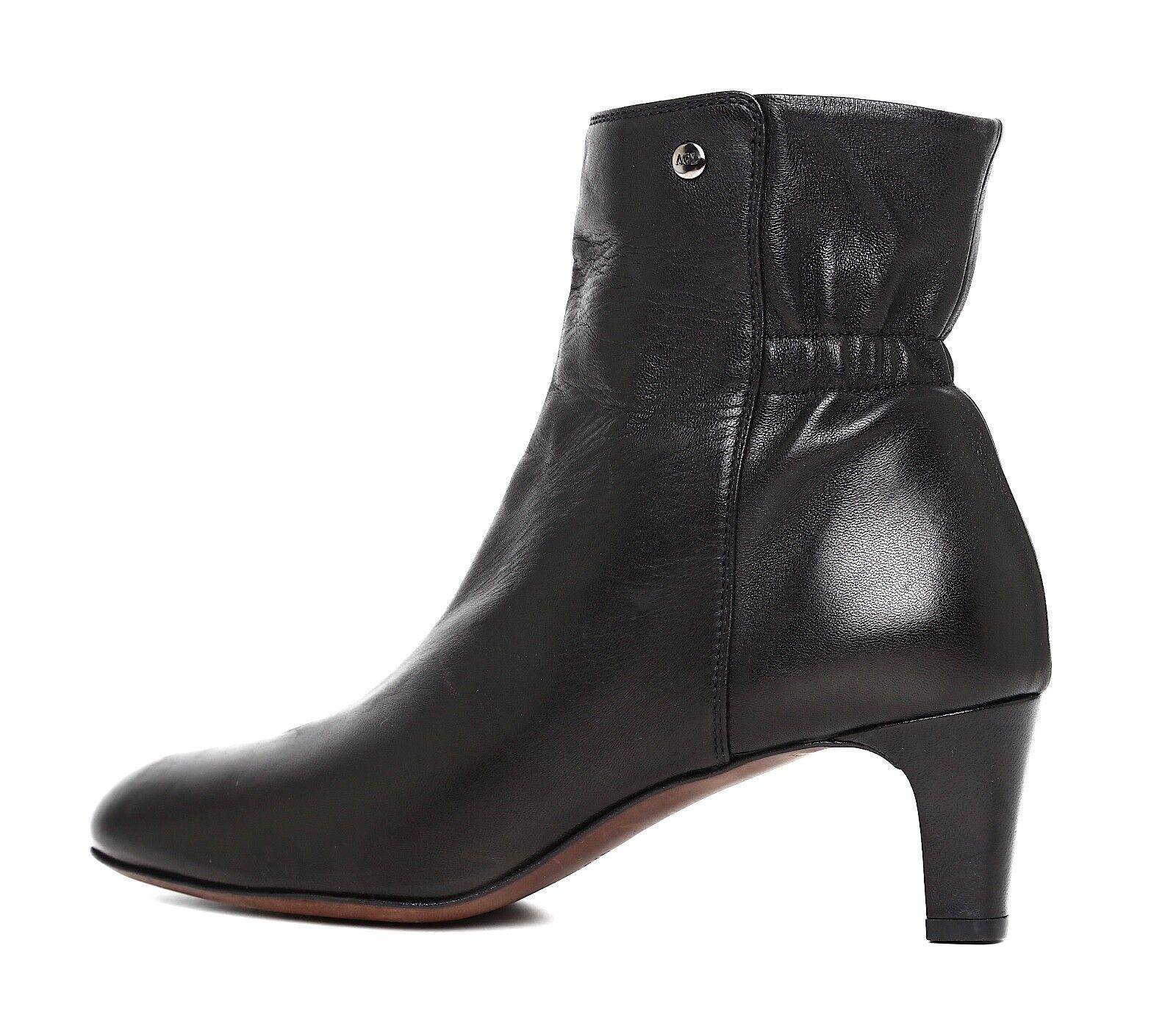 Attilio Giusti Leombruni Carla Leather Bootie Black Women Women Women Sz 39 5909  75565c