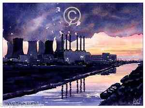 WALSALL OLD POWER STATION WATERCOLOUR ARTISTS PRINT GREETINGS CARD 8034x 6034 - <span itemprop=availableAtOrFrom>Walsall, West Midlands, United Kingdom</span> - Returns accepted Most purchases from business sellers are protected by the Consumer Contract Regulations 2013 which give you the right to cancel the purchase within 14 days - Walsall, West Midlands, United Kingdom
