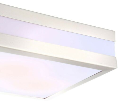 LED 10 Watt Decken Außen Lampe Leuchte Edelstahl IP44 Garten Terrasse Veranda