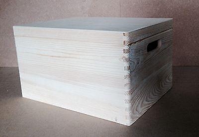 * In Legno Di Pino Storage Crate & Coperchio 40x30x23cm Dd170 Trunk Store Perline Display (u)- Possedere Sapori Cinesi