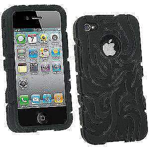 New-Tribal-Silicone-Skin-Case-Cover-Fit-for-Apple-iPhone-4-Black