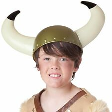 Childs Viking Helmet Hat With Horns Fancy Dress Party Costume Accessory H02 735
