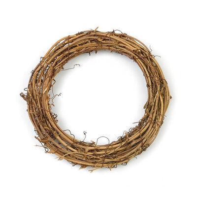 Christmas Natural Dried Rattan Wreath Xmas Garland Door Wall DIY Decor TYUK