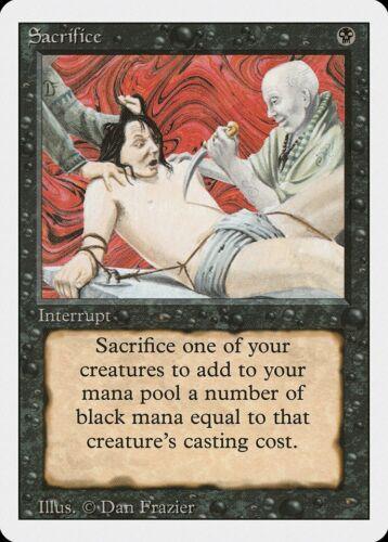 Sacrifice Revised NM Black Uncommon MAGIC THE GATHERING MTG CARD ABUGames