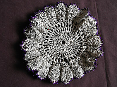 #1075 Beautiful Vintage Hand Made Doily 16cm(6'') Bright In Colour