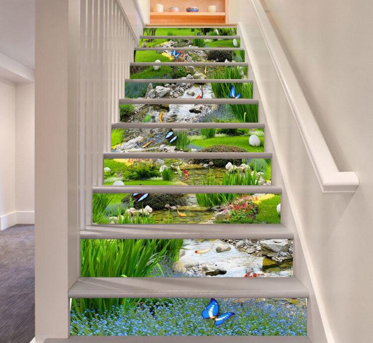 3D Schmetterling 53 Stair Risers Dekoration Fototapete Vinyl Aufkleber Tapete DE