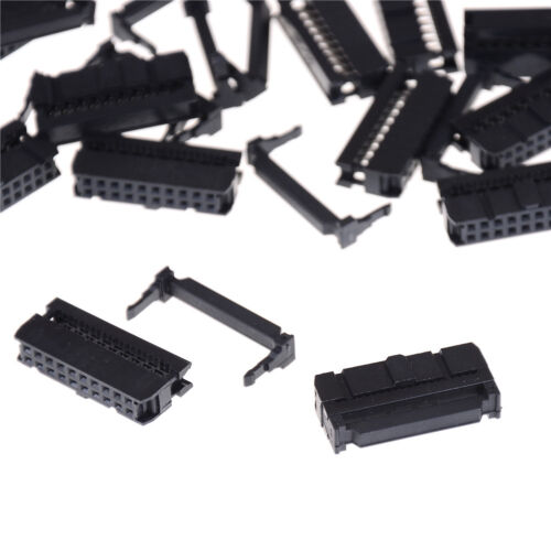 20Pcs 2x10 2.54 Pitch IDC FC-20 Pin Female Wire Header Connectors For Flat Cable