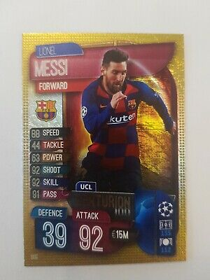 Match Attax 2019//20 19//20 Lionel Messi UCL Centurión Trading Card-Barcelona