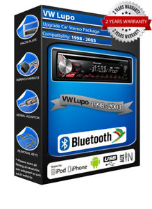 VW Lupo CD player USB AUX in, Pioneer Bluetooth Handsfree kit, car stereo