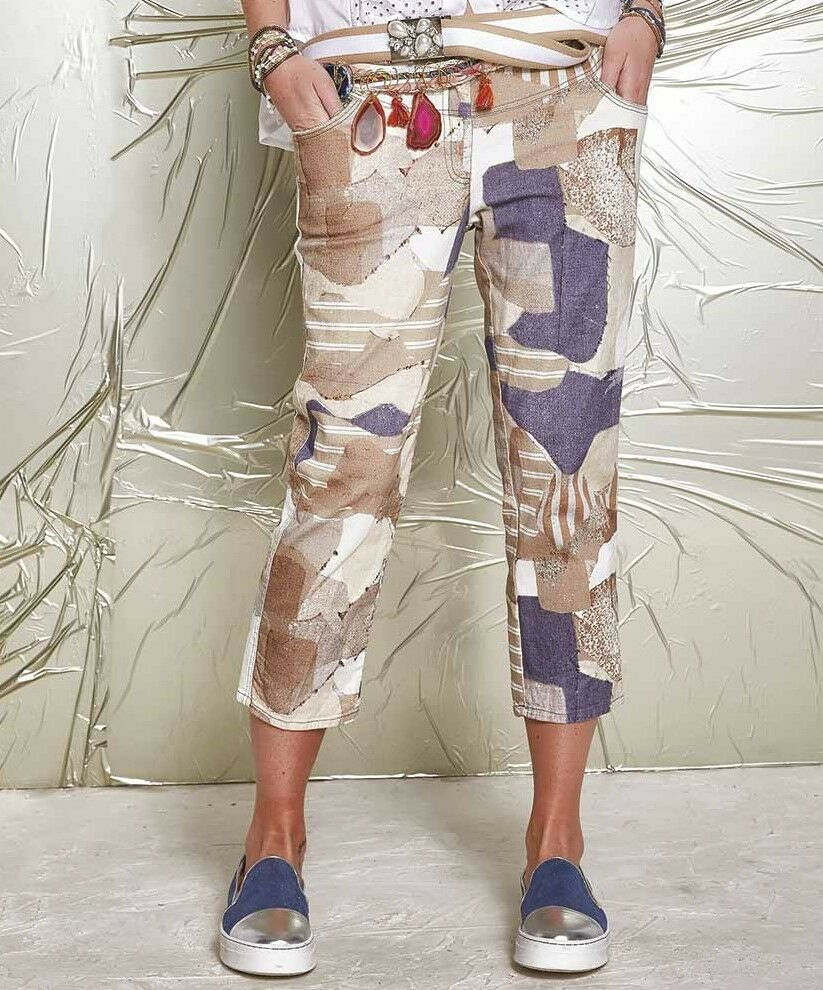 ELISA CAVALETTI Hose Trousers St. Camouflage Gr. 28 29 Koll. FS 2017