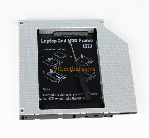 2nd IDE to SATA Hard Drive HDD Caddy for HP Pavilion zd7000 zd7100 zd7200 NX9500