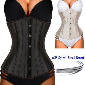 cccb8ac7ba Image is loading Women-Slimming-Spiral-Steel-Boned-Corset-Lingerie-Waist-