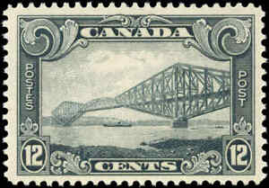 Mint-Canada-12c-1929-F-Scott-156-King-George-V-Scroll-Issue-Hinged