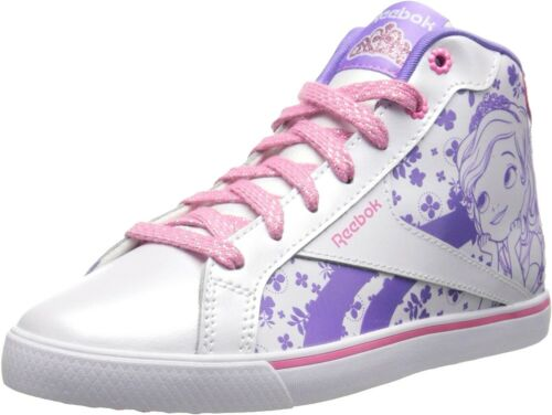 Reebok Sofia Court Mid Classic Shoes Little Kid White/Solar Pink Girls M47065