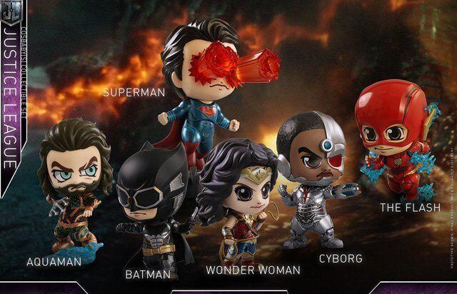 "Justice League (2017) - Justice League Cosbaby 3.75"" Hot Toys Bobble Head Figure"