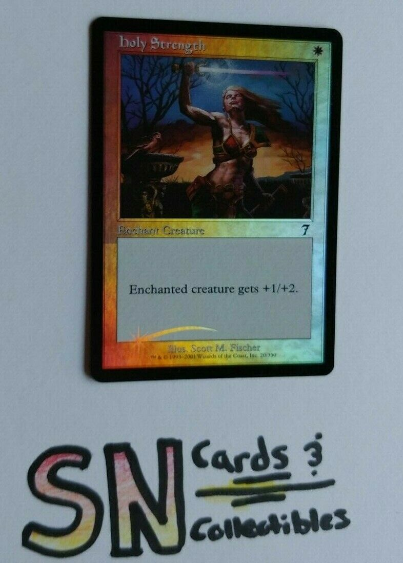 Misprint FOIL 7th Ed. Holy Strength  NM M Free Shipping
